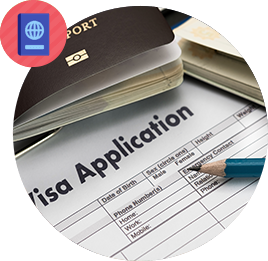 Obtaining entry VISA